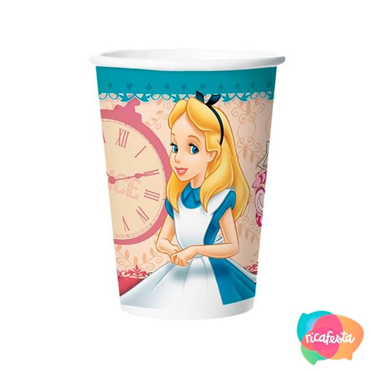 Copo de Papel Alice no País das Maravilhas Rica Festa
