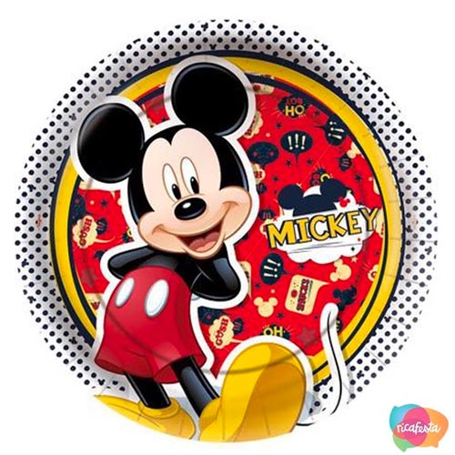 Pratinho decorado Ideias para festa Mickey e Minnie Rica Festa