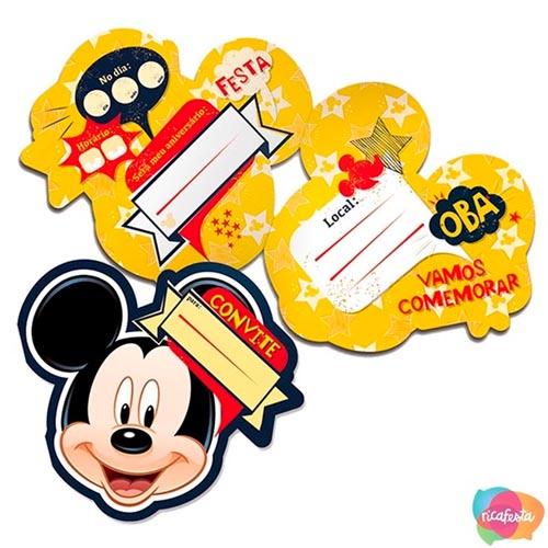 Convite festa Mickey e Minnie Rica Festa