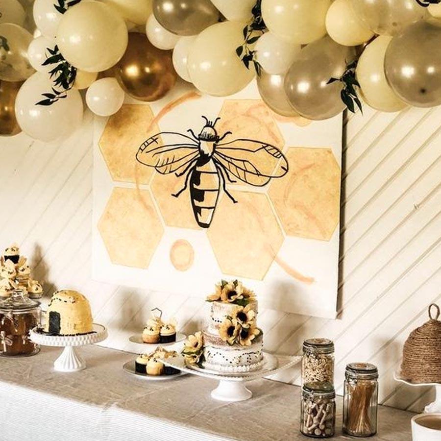 Festa abelhinha bolo e cupcake - Rica Festa