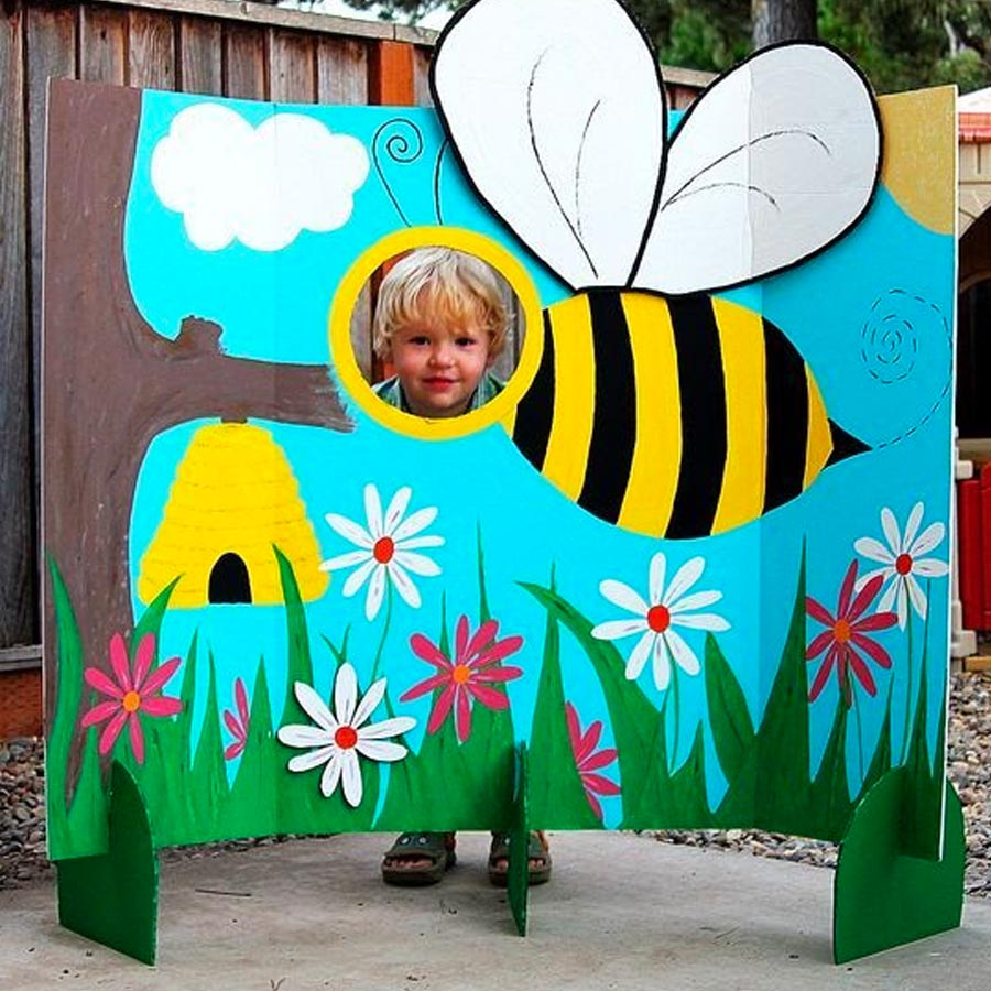 Painel de fotos festa abelhinha - Rica Festa