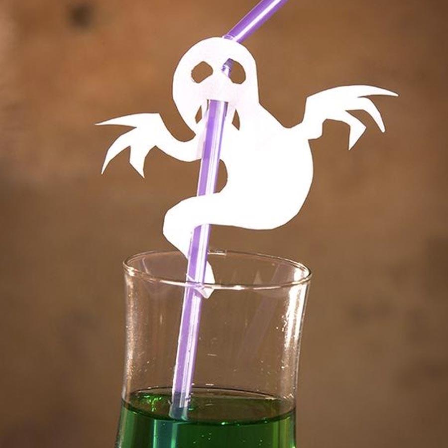 Canudo decorativo Ideias para festa de Halloween por Dani Folloni It Mãe - Rica Festa