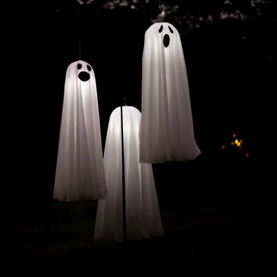 Luminárias de fantasma Ideias para festa de Halloween por Dani Folloni It Mãe - Rica Festa